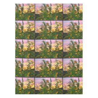 Flower in the Sunset Table Cloth Tablecloth