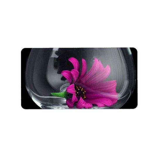Flower in Vase Address Label