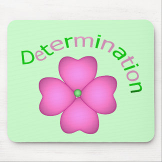 Flower Inspirational Determination Mouse Pad