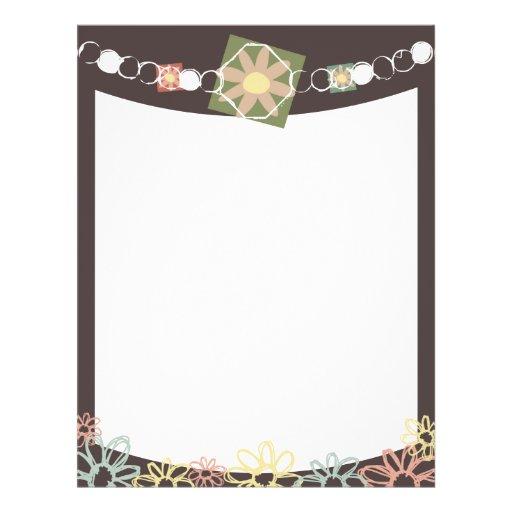 flower jewelry necklace marketing flier full color flyer