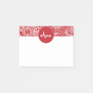 Flower Jungle Red Post-it Notes