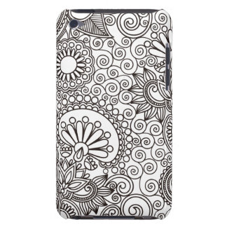 Flower Jungle White Barely There iPod Case