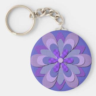 Flower Keychain - Purple