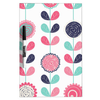 Flower leafs dry erase white board