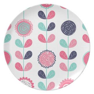 Flower leafs plate