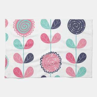 Flower leafs tea towel