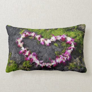 Flower Lei on the Rocks Lumbar Cushion