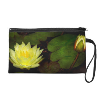 Flower - Lily - Morning showers Wristlet Purse