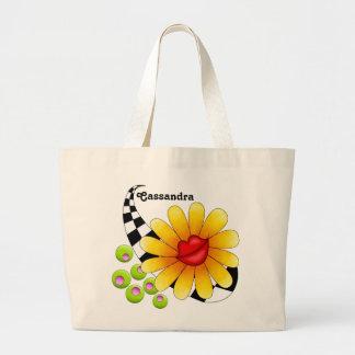 Flower Lips Canvas Bag
