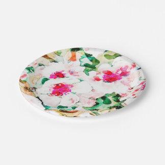 Flower Love 7 Inch Paper Plate