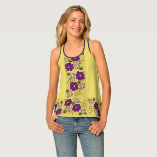FLOWER LOVE TANK TOP, Cocuyo Arts Tank Top