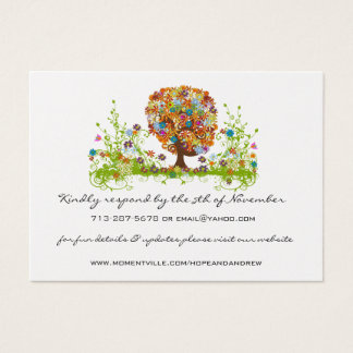 Flower Love Tree Response and Website Cards
