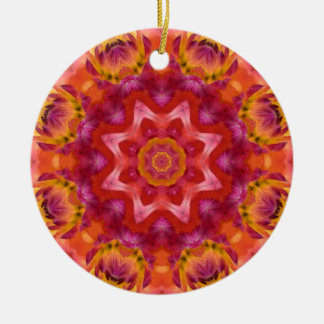 Flower Mandala 05 Round Ceramic Decoration