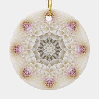 Flower Mandala 09 Round Ceramic Decoration