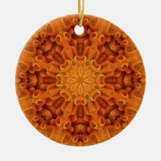 Flower Mandala 48 Round Ceramic Decoration