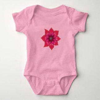 Flower mandala Baby Jersey Bodysuit, White Baby Bodysuit