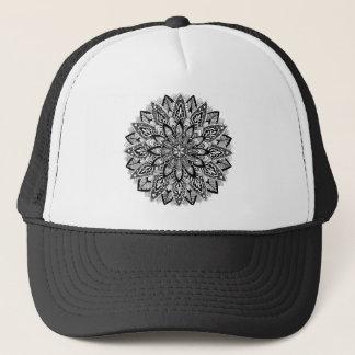 Flower Mandala black and white Trucker Hat