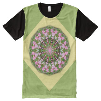 Flower Mandala, Bleeding heart 002 All-Over Print T-Shirt