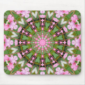 Flower Mandala, Bleeding heart 002 Mouse Pad