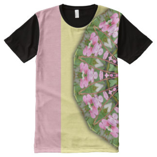 Flower Mandala, Bleeding heart 02.2 All-Over Print T-Shirt