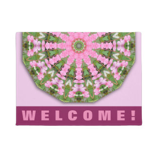 Flower Mandala, Bleeding heart Doormat