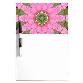 Flower Mandala, Bleeding heart Dry Erase Boards