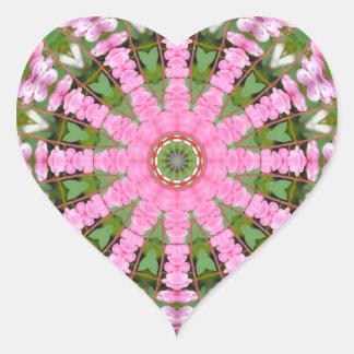 Flower Mandala, Bleeding heart Heart Sticker
