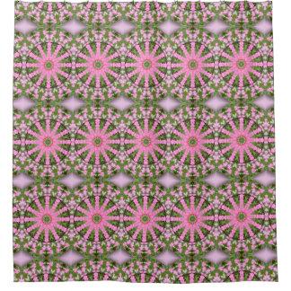 Flower Mandala, Bleeding heart Shower Curtain