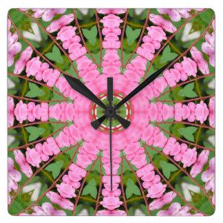 Flower Mandala, Bleeding heart Wall Clock