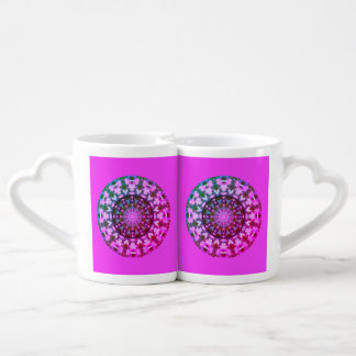 Flower Mandala, Bleeding Hearts 02.0.F_rd Coffee Mug Set