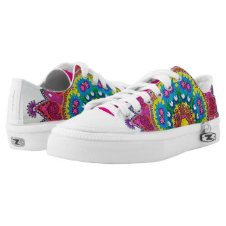 Flower Mandala Bright Low Tops
