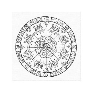 Flower Mandala Canvas Print