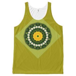 Flower-Mandala, Daisies All-Over Print Tank Top