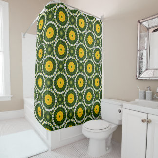 Flower-Mandala, Daisies Shower Curtain