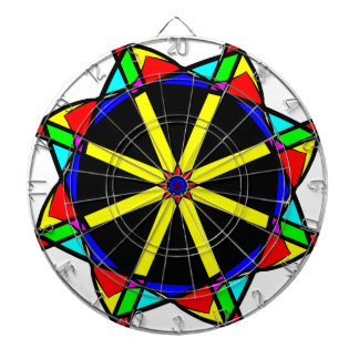 Flower mandala dartboard