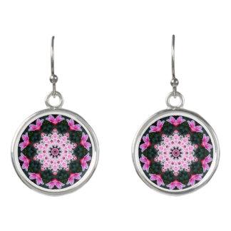 Flower Mandala Drop Earrings