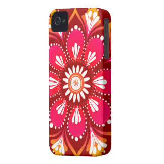 Flower Mandala iPhone 4 Case by Case-Mate