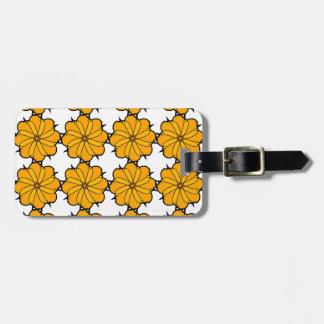 Flower mandala luggage tag
