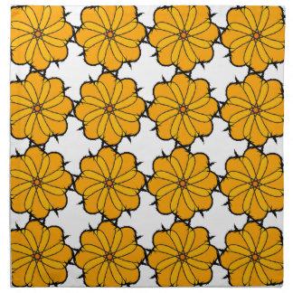 Flower mandala napkin