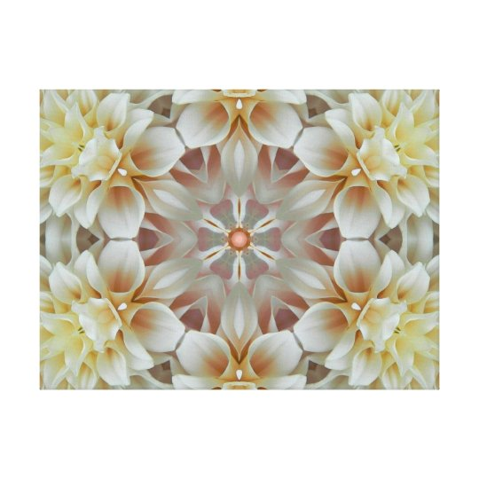 Flower Mandala of Light Canvas Print