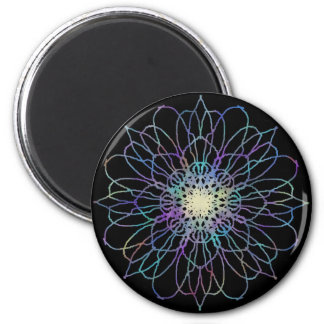 Flower Mandala Round Magnet