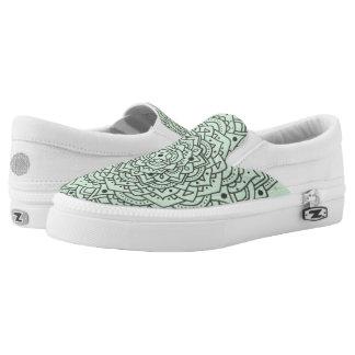 Flower Mandala Slip On Shoes