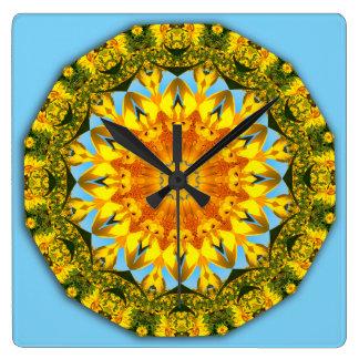 Flower-Mandala, Sunflower 1.2 Clock