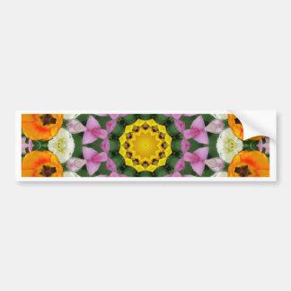 Flower Mandala, Tulips Bumper Sticker