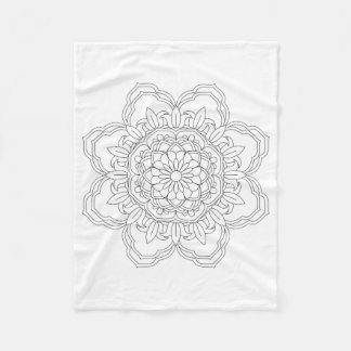 Flower Mandala. Vintage decorative elements. Orien Fleece Blanket