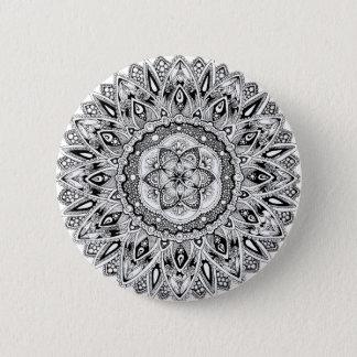 Flower mandala w/ seed of life 6 cm round badge