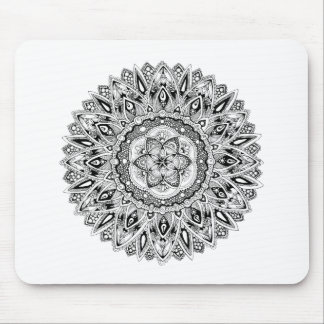 Flower mandala w/ seed of life mouse mat