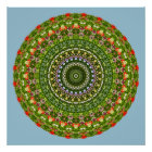 Flower-Mandala, Wildflower Poster