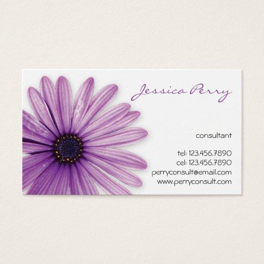 Flower Mark - Purple Business Card