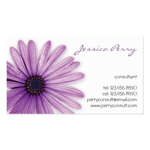 Flower Mark - Purple Business Card Template